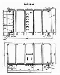 Бак для воды прямоугольный БВ-10 Серия 07.900-2