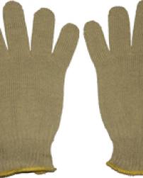 Перчатки вязанные арамидные, цвет горчичный