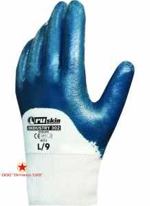 Нитриловые перчатки для работ средней тяжести   Ruskin® Industry 302 фото