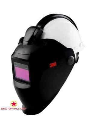 Щиток защитный лицевой сварщика 3M™ 10V QR c рейкой, со светофильтром 10V без каски