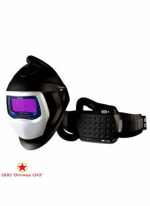Лицевой щиток сварщика 3M™ Speedglas® SG 9100 AIR со светофильтром 9100X и блоком ADFLO