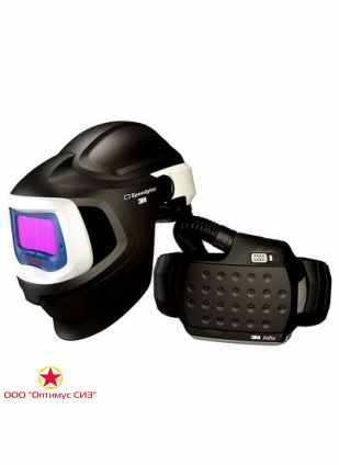Лицевой щиток сварщика 3M™ Speedglas® SG 9100 MP со светофильтром SG 9100X с регулятором 5, 8, 9-13 Din и блоком ADFLO