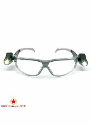 Очки защитные LED LIGHT VISION прозрачные 3M 11356-00000M фото