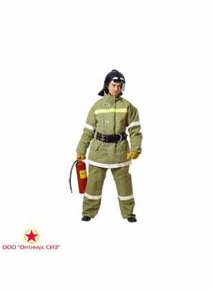 Боевая одежда пожарного БОП-2 СЗО ТВ Тип У, вид Б, брезент фото
