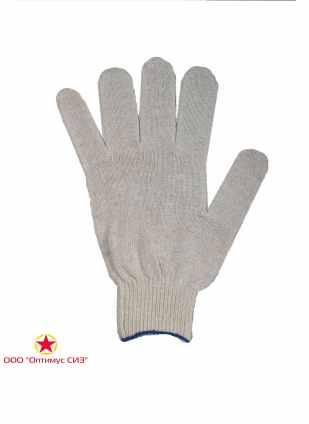 Перчатки трикотажные х/б. (4 нитка 10 класс.) фото