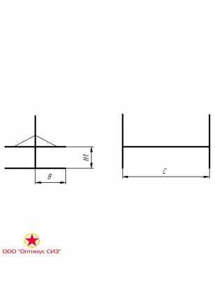 Нары одноярусные двухсторонние сборно-разборные металлические. Тип-V, В-949.00.00.000-02