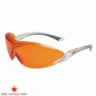 Очки защитные оранжевые 3M 2846 фото