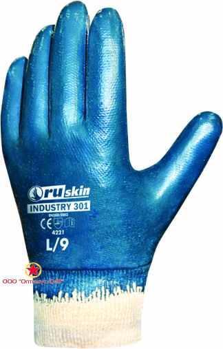 Нитриловые перчатки для тяжелых работ Ruskin® Industry 301 фото