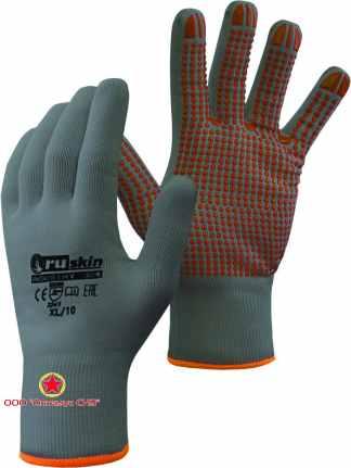 Трикотажные перчатки с ПВХ точками  Ruskin® Industry 304 фото