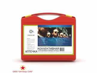 Аптечка первой помощи коллективная для офиса и производства на 30 человек СпецТехСбыт футляр пластик