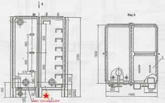 Бак для воды прямоугольный БВ-4 Серия 07.900-2