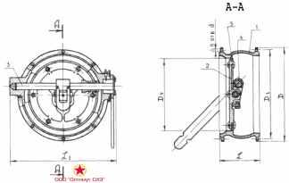 Клапан герметический КГ-150 с ручным приводом