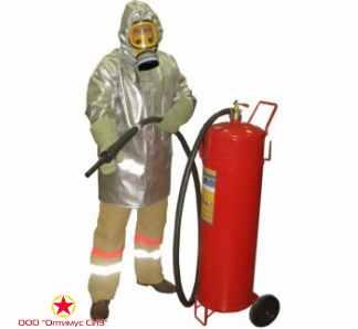 Плащ метализированный комплекта защитной экипировки пожарного-добровольца (КЗЭПД) «Шанс»-Д фото
