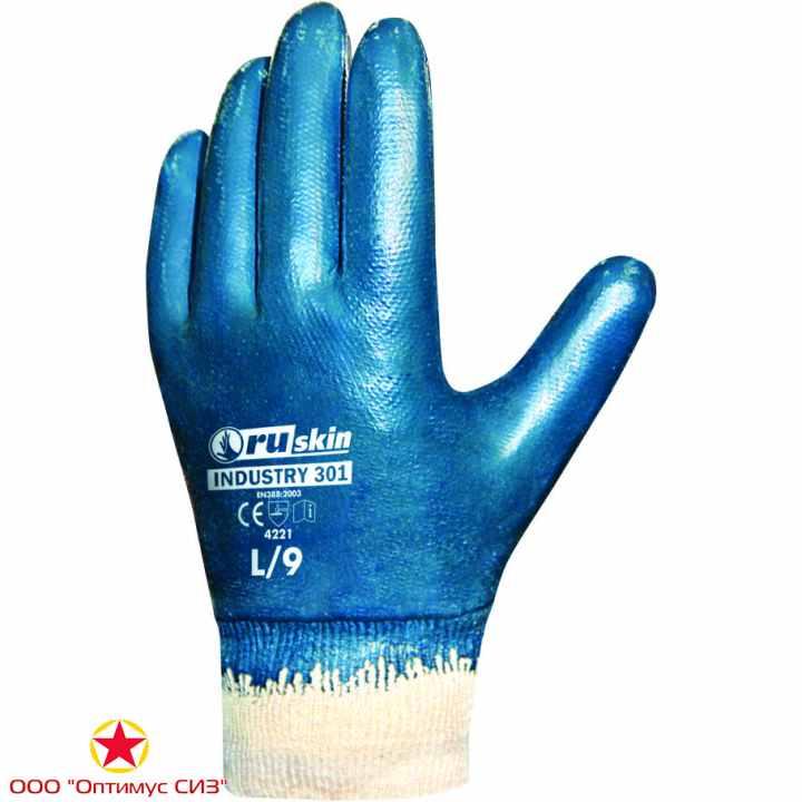 Фото Нитриловые перчатки для тяжелых работ Ruskin® Industry 301