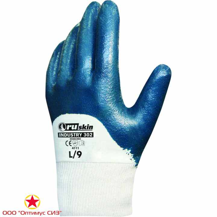 Фото Нитриловые перчатки для работ средней тяжести   Ruskin® Industry 302