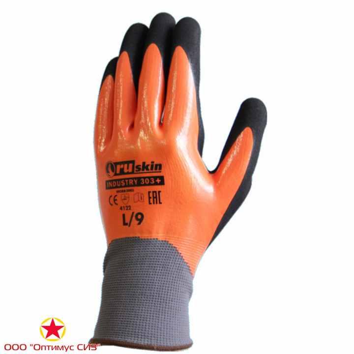 Фото Нитриловые перчатки с двойной обливкой  Ruskin® Industry 303+
