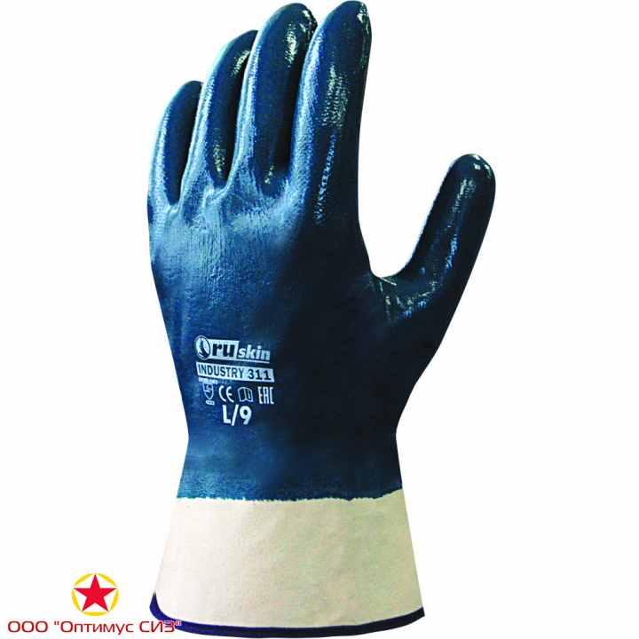 Фото Нитриловые перчатки для тяжелых работ Ruskin® Industry 311