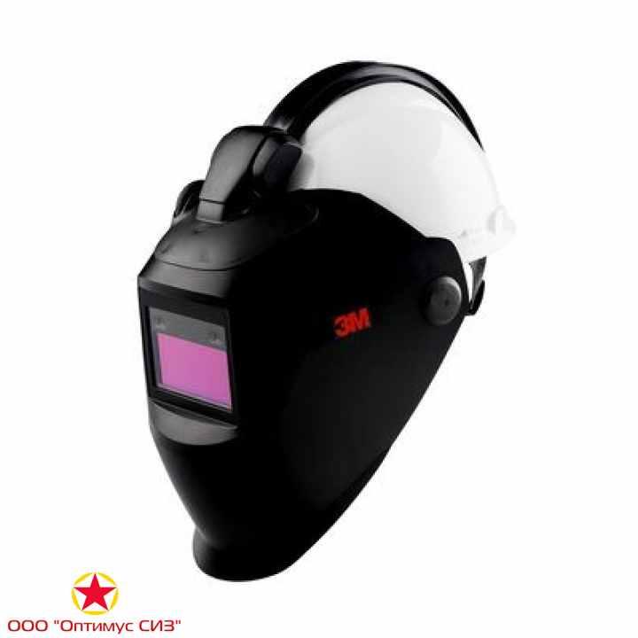 Фото Щиток защитный лицевой сварщика 3M™ 10V QR c рейкой, со светофильтром 10V без каски