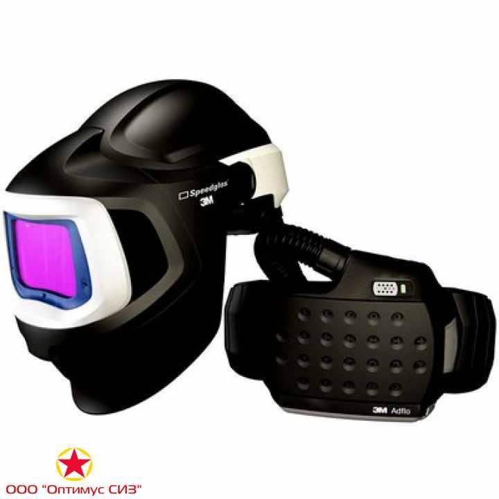 Фото Лицевой щиток сварщика сварщика 3M™ Speedglas® SG 9100 MP SG 9100XХ с регулятором 5, 8, 9-13 Din и блоком ADFLO