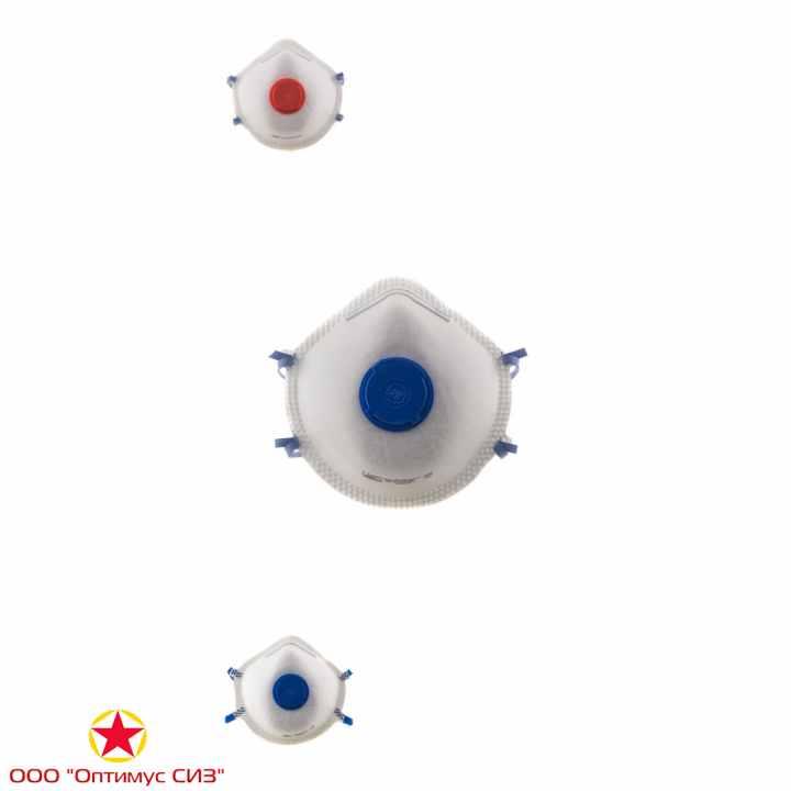 Фото Респиратор противоаэрозольный Бриз-1104-2К FFP1, FFP2, FFP3 с клапаном