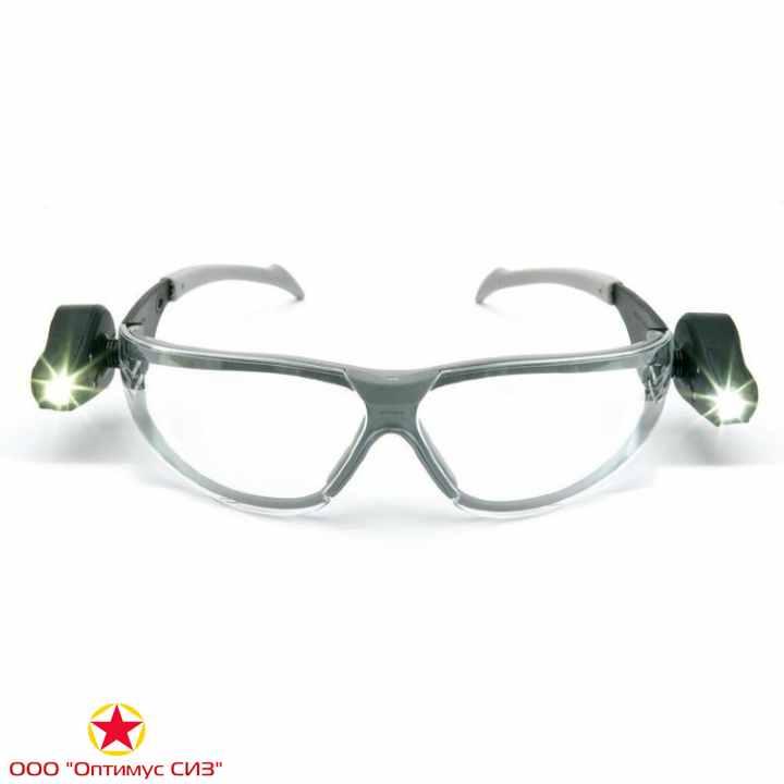Фото Очки защитные LED LIGHT VISION прозрачные 3M 11356-00000M