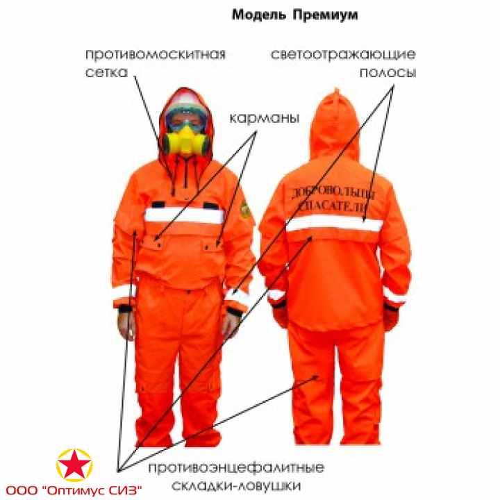 Фото Одежда пожарного добровольца «Шанс» (Премиум)