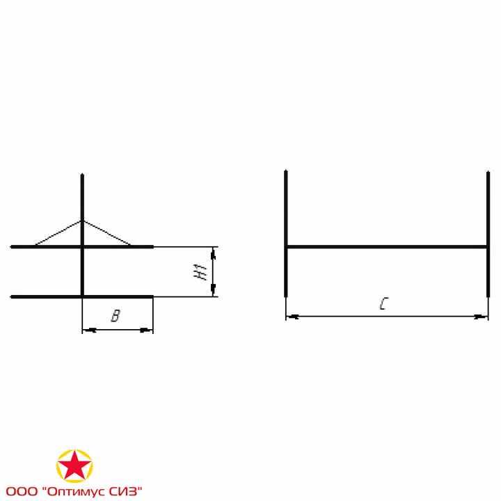 Фото Нары одноярусные двухсторонние сборно-разборные металлические. Тип-V, В-949.00.00.000-02